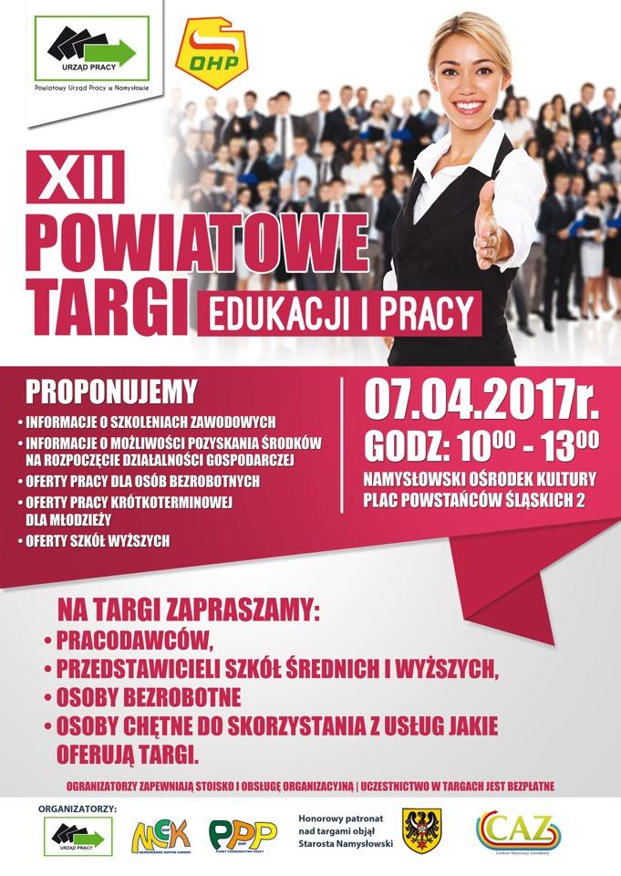 12. Targi pracy i edukacji w Namysłowie - kwiecień 2017