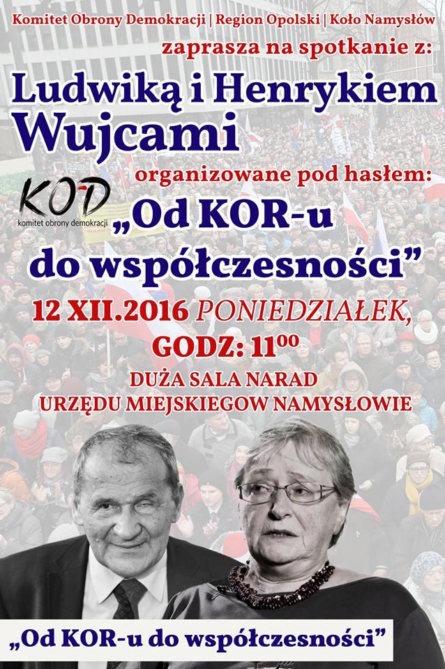 Henryk i Ludwika Wujcowie w Namysłowie