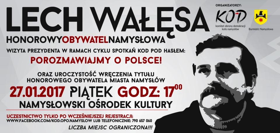 Lech Wałęsa w Namysłowie