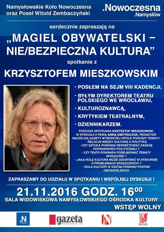 Krzysztof Miejszkowski w Namysłowie