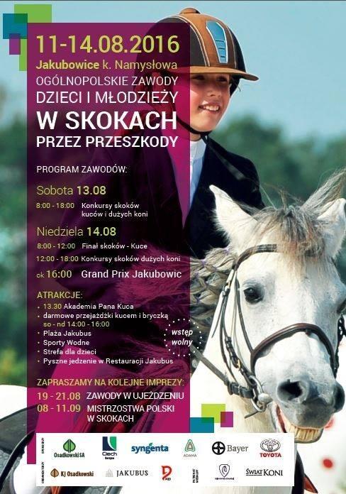 Zawody w skokach przez przeszkody - Jakubowice sierpień 2016