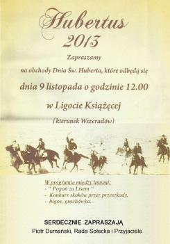 Hubertus 2013 Ligota Książęca