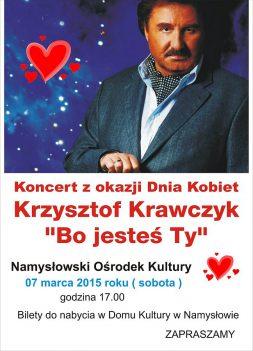 Krzysztof Krawczyk na Dzień Kobiet wystąpi w Namysłowie