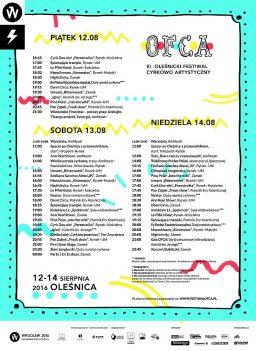 PROGRAM festiwalu OFCA 2016 w Oleśnicy