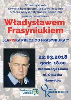 Władysław Frasyniuk w Namysłowie