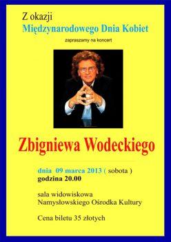 Zbigniew Wodecki w Namysłowie
