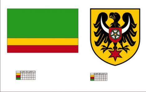 Flaga i herb powiatu namysłowskiego