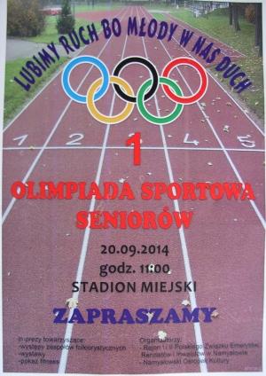 Olimpiada seniorów w Namysłowie