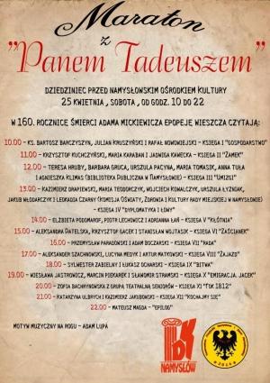 Czytanie Pana Tadeusza w Namysłowie