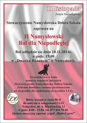 Bal dla Niepodległej 2014 w Namysłowie