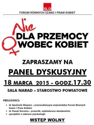 Panel Dyskusyjny o przemocy wobec kobiet - Namysłów 2015