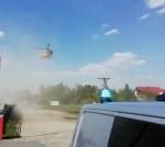Lądowanie helikoptera LPR w Namysłowie