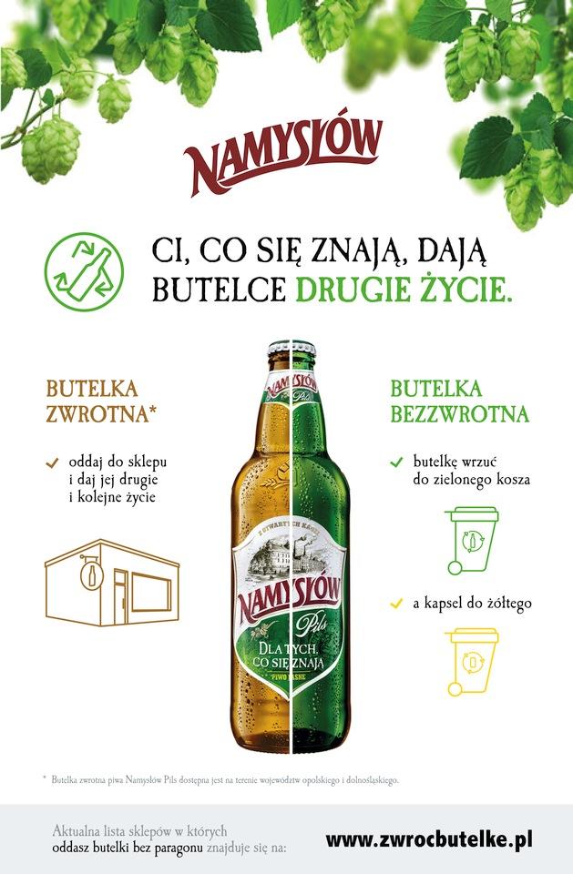Zwrot butelek w Namysłowie