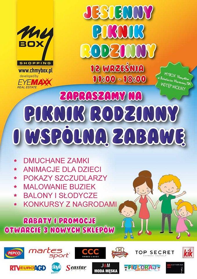 Namysłowskie Centrum Handlowe MyBOX organizuje Piknik Rodzinny