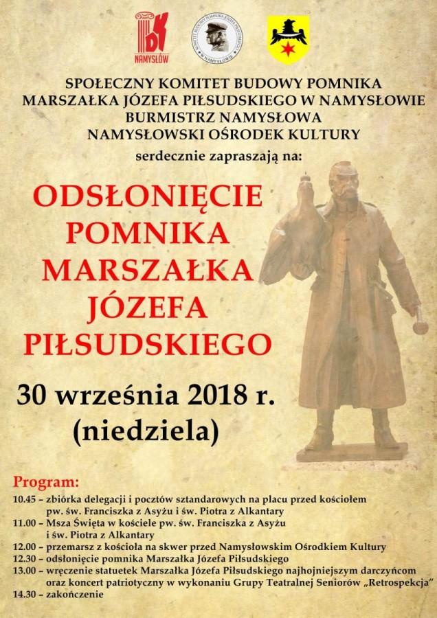 Pomnik Piłsudskiego - odsłonięcie