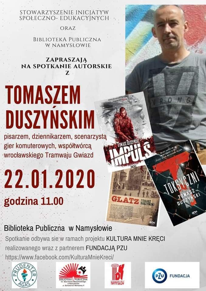 Spotkanie z Tomaszem Duszyńskim w Namysłowie